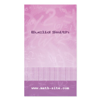 Math Equations Pink Purple Business Card