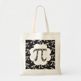 Math Floral Pi Tote Bag