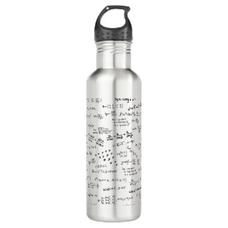 Math Formulas And Numbers 710 Ml Water Bottle