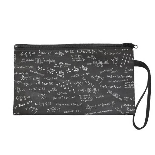 Math Formulas And Numbers Wristlet Clutch