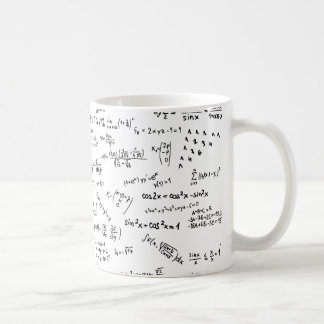 Math Formulas And Numbers Basic White Mug