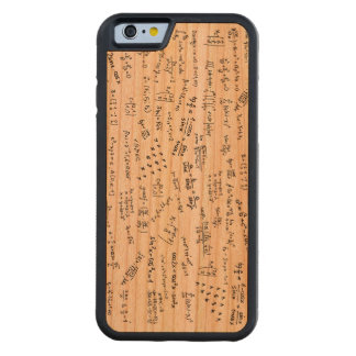Math Formulas And Numbers Carved Cherry iPhone 6 Bumper Case