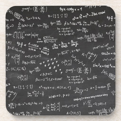 Math Formulas And Numbers Drink Coaster