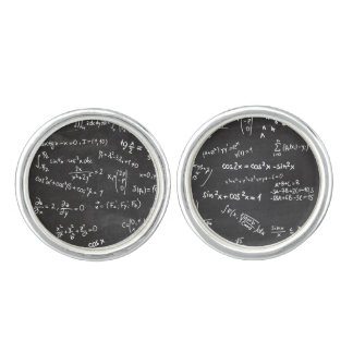 Math Formulas And Numbers Cuff Links