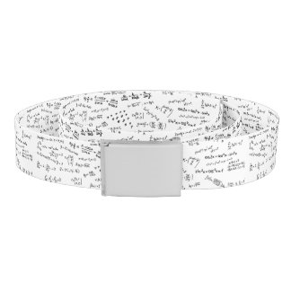 Math Formulas And Numbers Seamless Pattern Belt