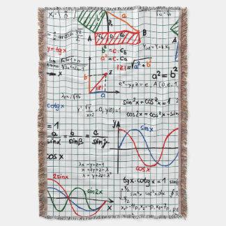 Math Formulas Numbers Throw Blanket