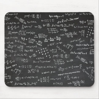 Math Formulas On A Blackboard Mouse Mat