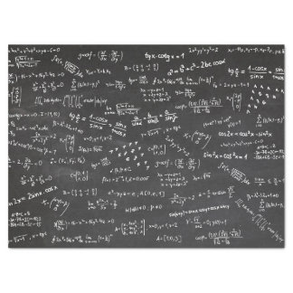 Math Formulas On Blackboard Tissue Paper