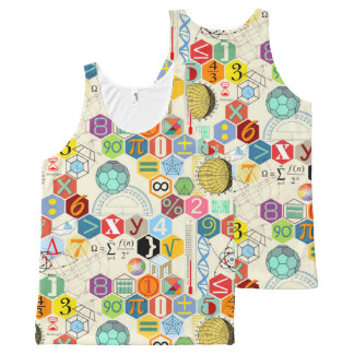 math full All-Over print tank top