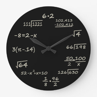 Math Geek Large Clock