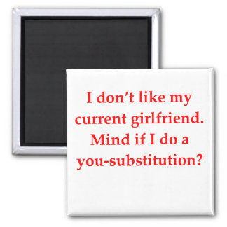 math geek love pick up line square magnet
