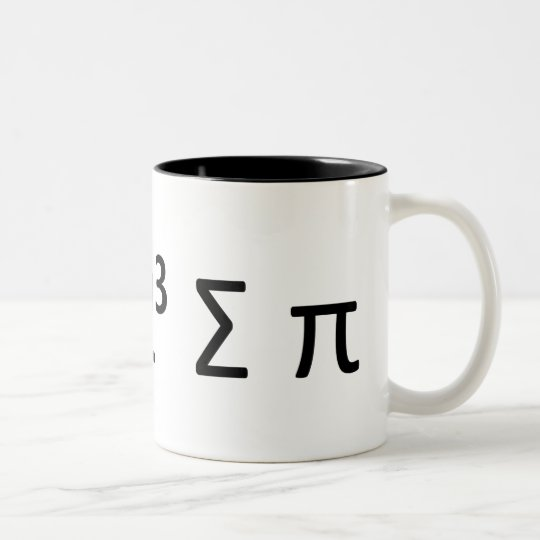 Math Geek Mug: i 8 sum pi Two-Tone Coffee Mug