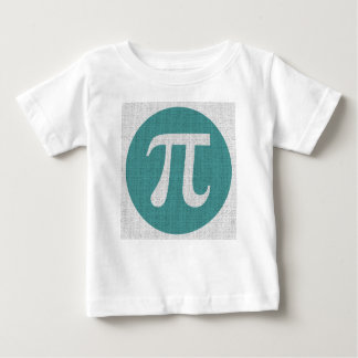 Math geek Pi symbol, blue circle and digits. Baby T-Shirt