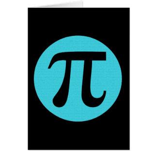 Math geek Pi symbol, blue on black Note Card