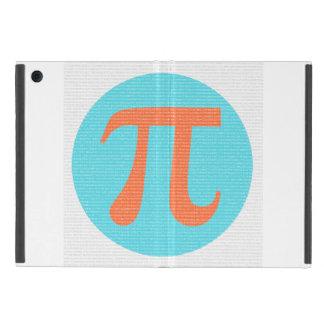 Math geek Pi symbol, orange and blue iPad Mini Covers