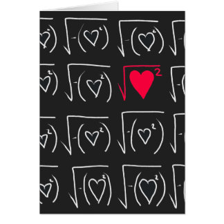 Math geek romance: find real love stationery note card