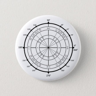 Math Geek Unit Circle 6 Cm Round Badge