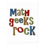 Math Geeks Rock Postcard