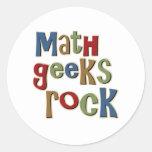 Math Geeks Rock Round Sticker