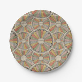 Math Geek's Vintage Multiplication Tables 7 Inch Paper Plate