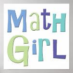 Math Girl Poster