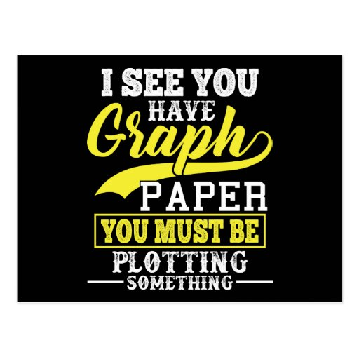 'Math Graph Paper Plotting Something Pun Teacher Postcard
