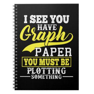 Math Graph Paper Pun Notebook