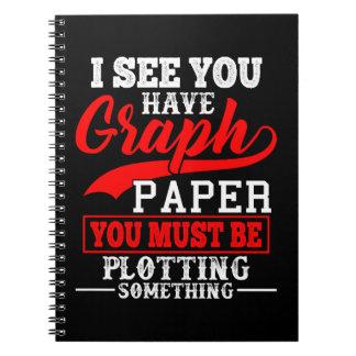 Math Graph Paper Pun Notebooks
