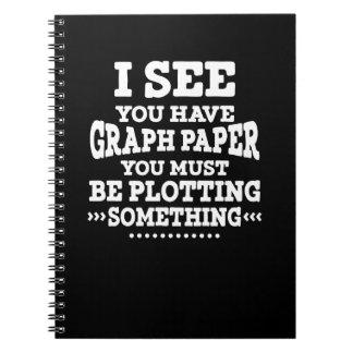 Math Graph Paper Pun Spiral Notebook