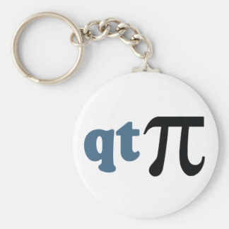 Math Humor - Cute Tee Pi Basic Round Button Key Ring