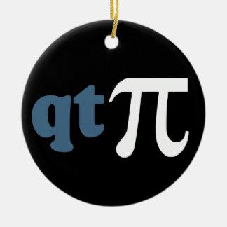 Math Humor - Cute Tee Pi Round Ceramic Decoration