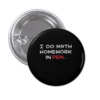 Math in Pen 3 Cm Round Badge