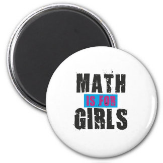 Math is for girls 6 cm round magnet