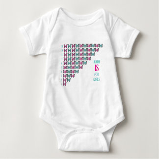 Math Is For Girls, I Love Math, Inspirational Baby Bodysuit