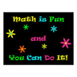 Math is Fun and You Can Do It Poster