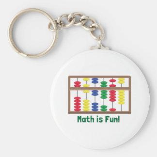 Math Is Fun Basic Round Button Key Ring