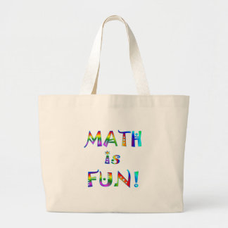 Math is Fun Large Tote Bag