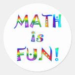 Math is Fun Round Stickers