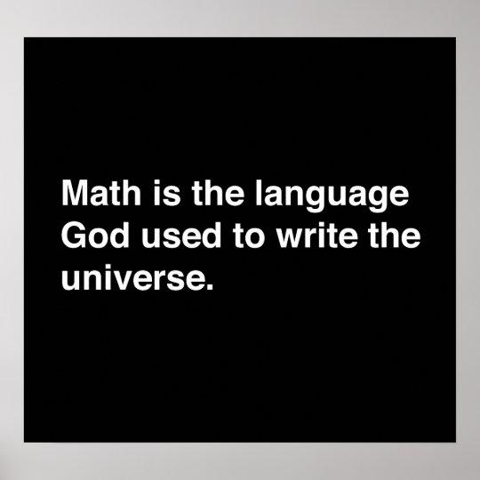 Math is Gods Language Poster