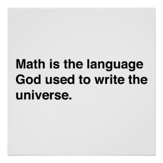 Math is Gods Language Poster
