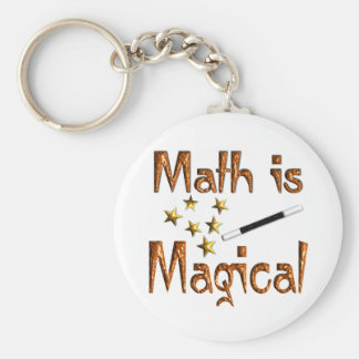 Math is Magical Basic Round Button Key Ring