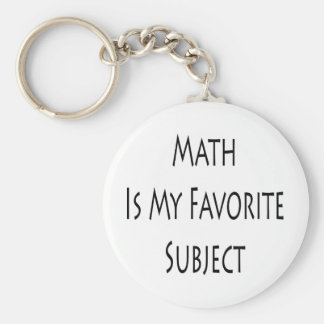 Math Is My Favorite Subject Key Ring