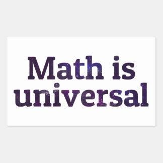 Math is universal galaxy rectangular sticker