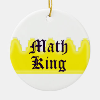 Math King Round Ceramic Decoration
