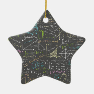 Math Lessons Ceramic Star Decoration