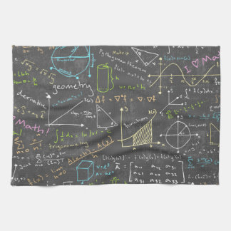 Math Lessons Tea Towel