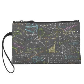 Math Lessons Wristlet Clutches