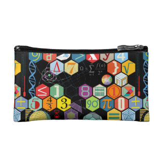 math love black makeup bag