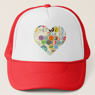 math love cup trucker hat