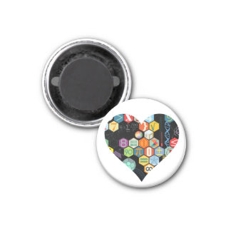 math love round magnet